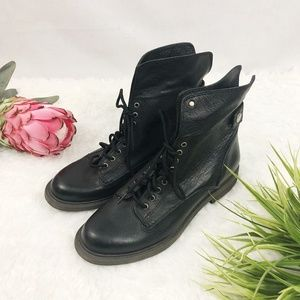Lucky Brand 'Blake' leather lace up combat boot 6